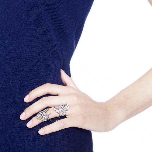 кольца на фаланги из серебра и золота