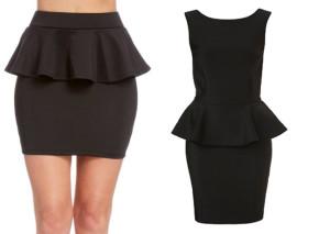 юбка и платье с баской