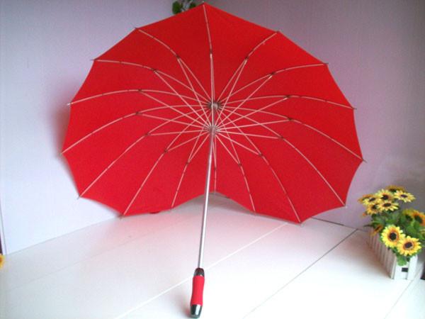 Hot-sale-Red-Heart-ladies-womens-umbrella-16k-wind-break-sun-rain-parasol-New-arrival