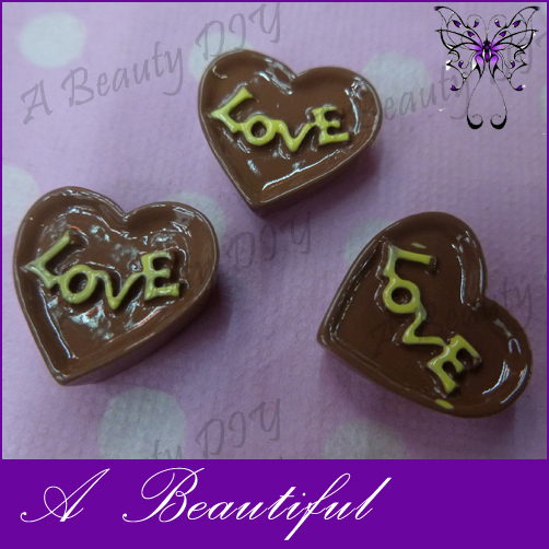 -Min-Order-10-Resin-Cute-Love-Heart-Chocolate-Candy-For-DIY-Mobile-Phone-Jewelry-Accesories