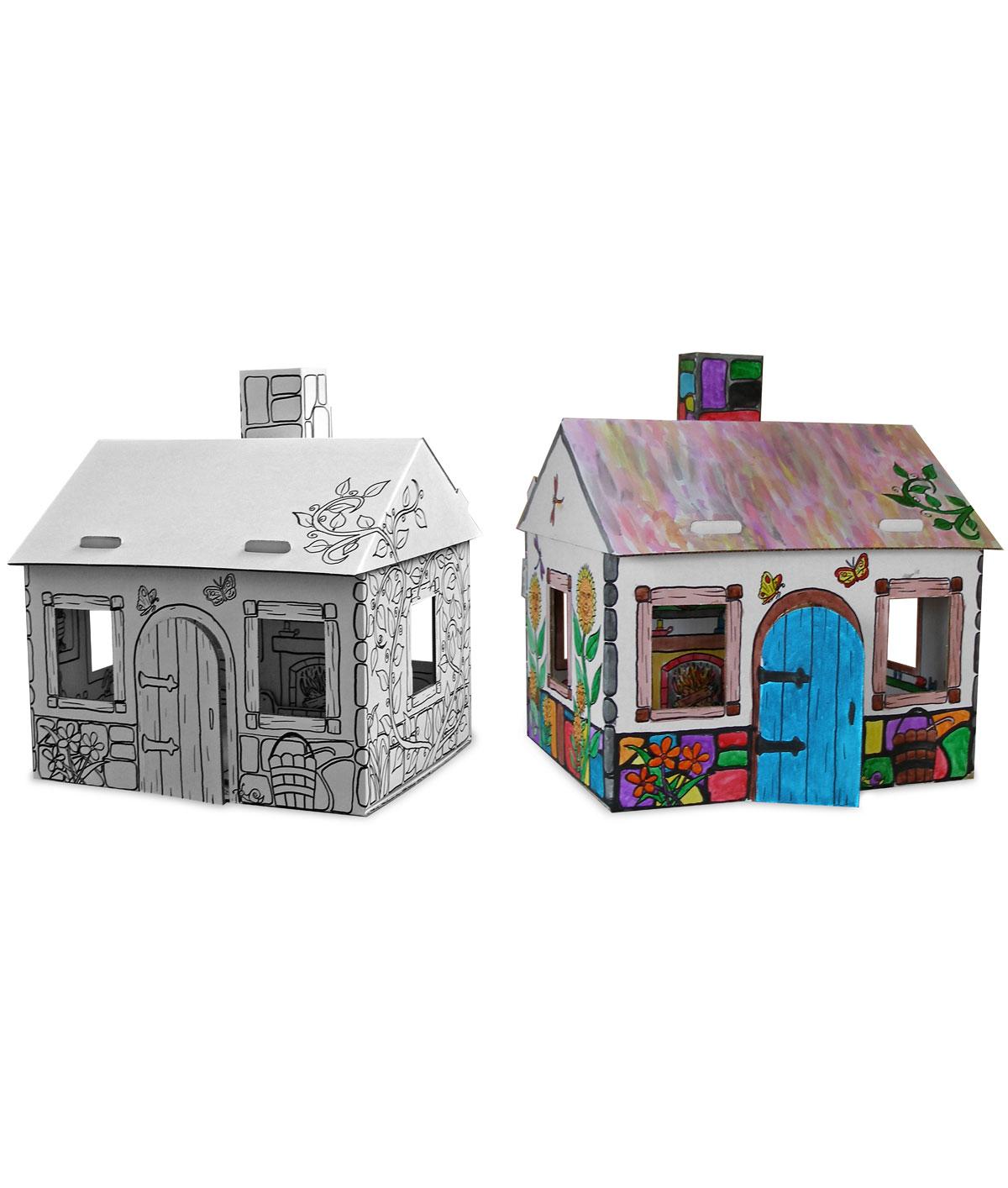 Картонние домики своими руками