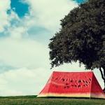 палатка в виде дольки арбуза