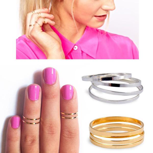 кольца на верхние фаланги пальцев
