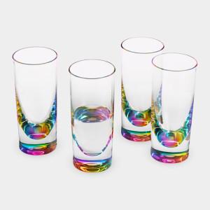 91841_A2_Glasses_Teardrop_Rainbow_Acrylic_Set_of_4