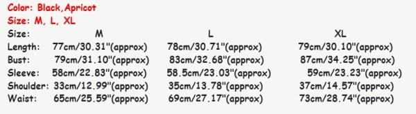 Характеристики длины, обхвата и ширины товара