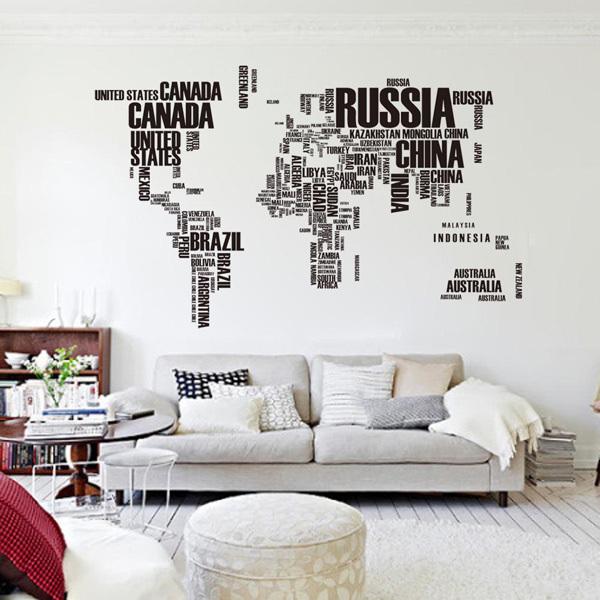 Самая необычная карта мира