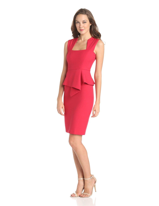 Модное платье с баской 2014