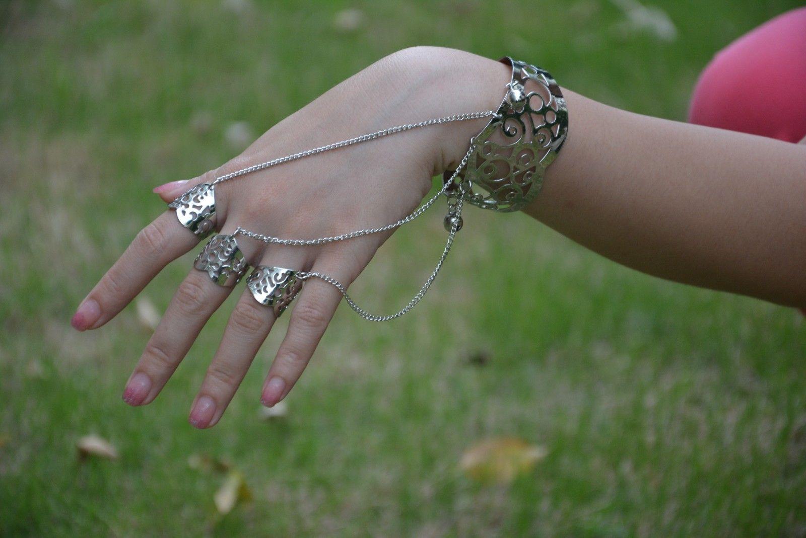 слейв браслет с тремя кольцами