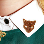 уголки с золотыми кошками