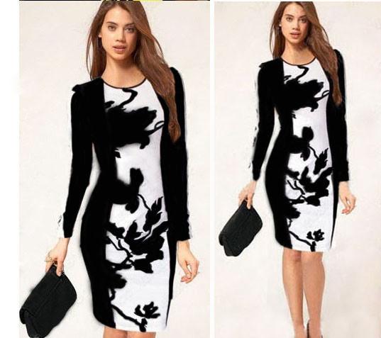стройнящее платье с принтом