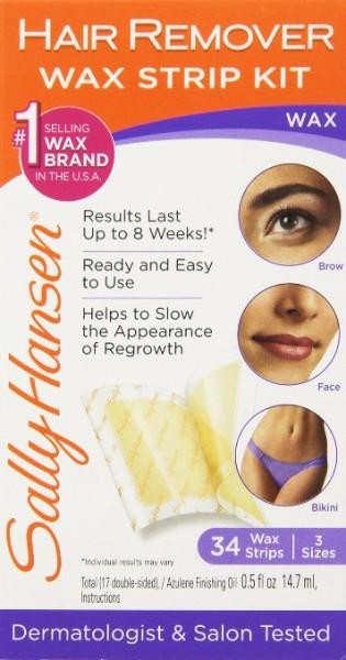 Sally Hansen Hair Remover Wax Strip Kit for Face