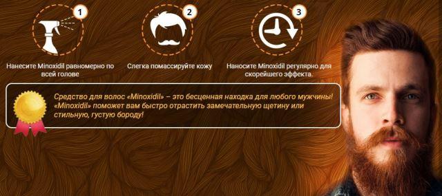 Инструкция к Minoxidil для мужчин